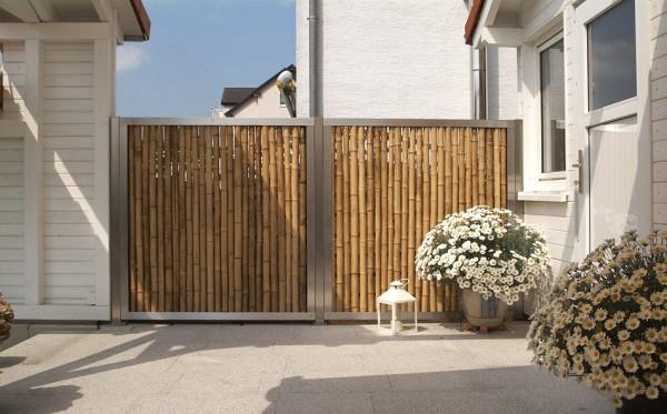 Wandhalterung für Bambuszaun