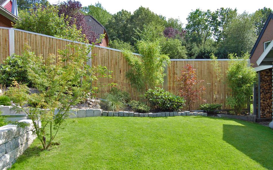 Bambuszaun Mit Abschlussprofilen Bambusborse