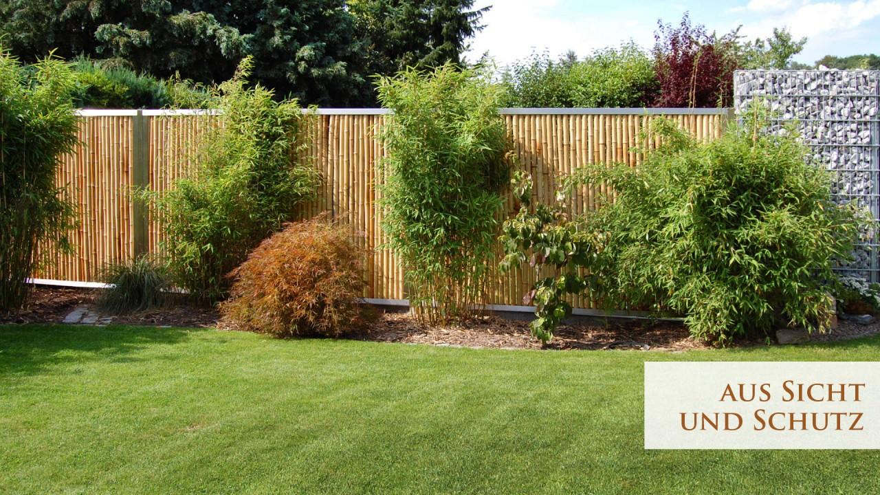 Bambus-Sichtschutz-Garten
