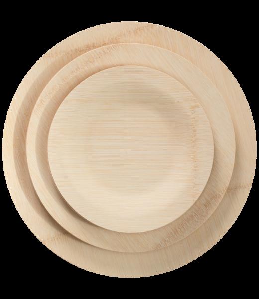 Bambusteller rund*